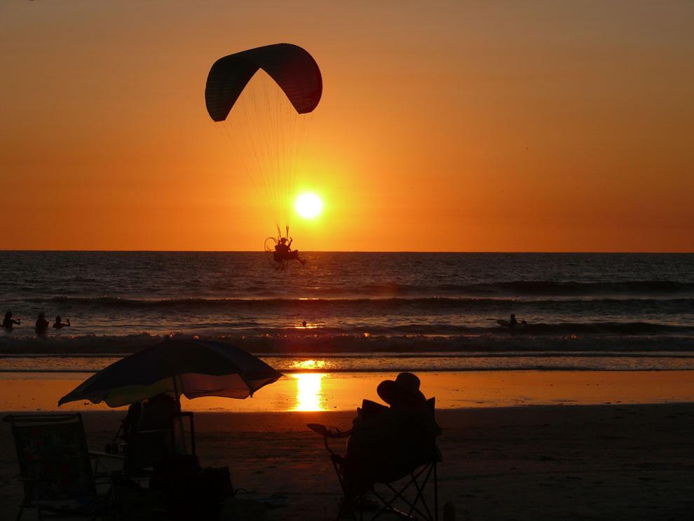 Don Cesar, St Pete Beach sunset paraglider