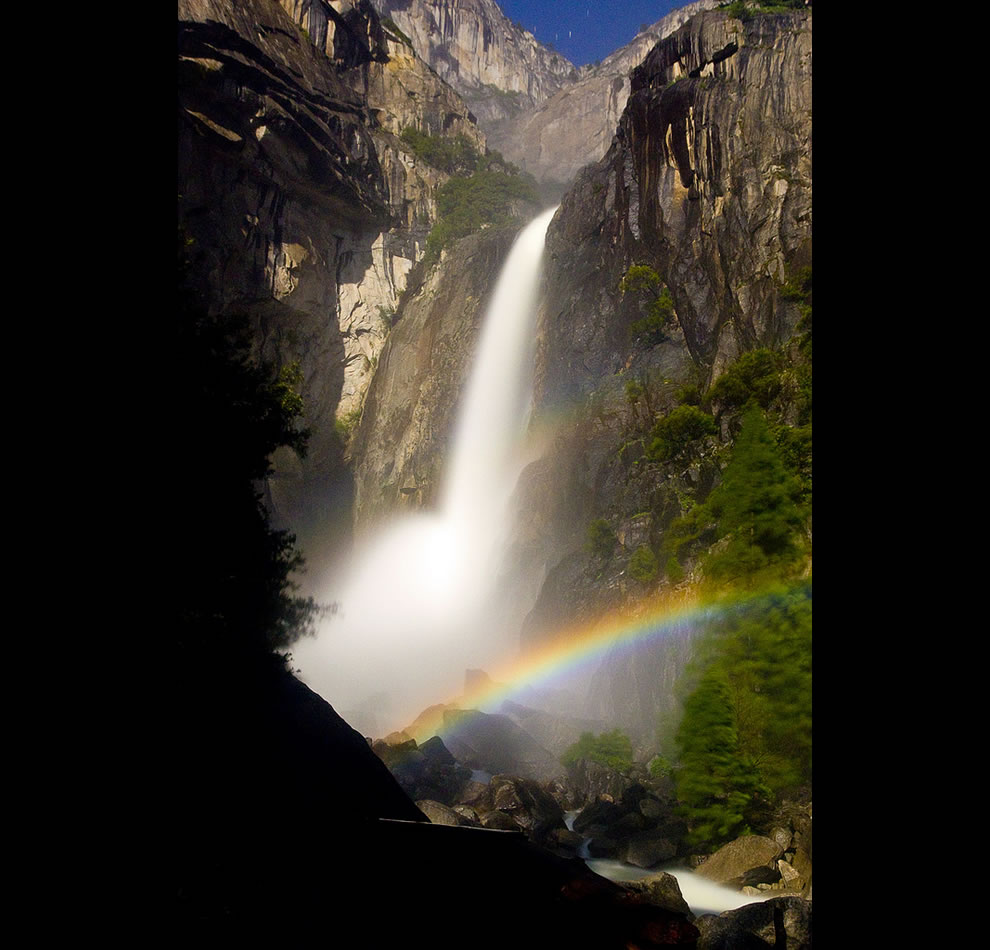 Lunar Rainbow at Lower Yosemite Falls