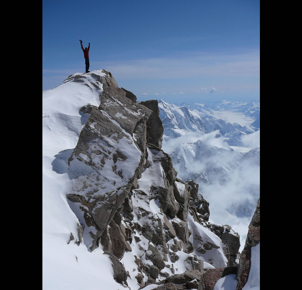 Mountaineering Denali National Park - A view from high above the rest