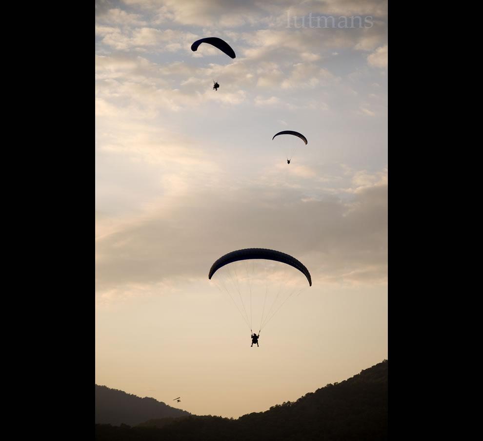 Paragliders at Olu Deniz, Turkey