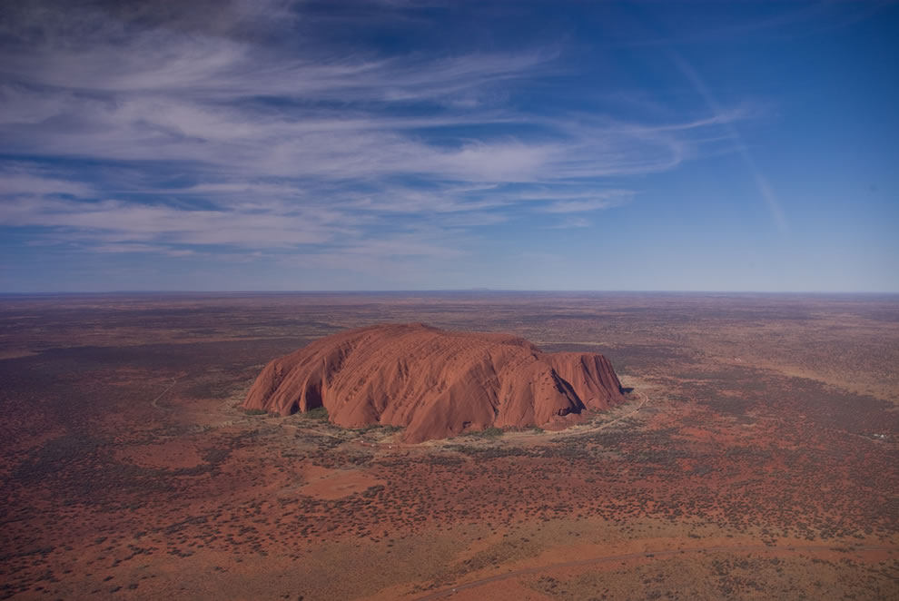 Ayers Rock from a Helicopter