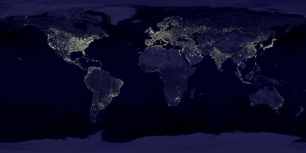Earth's city lights