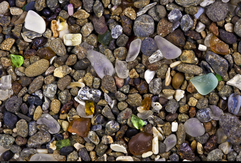 Glass Beach has a remarkable density of polished sea glass due to a history of dumping garbage into the sea in northern Fort Bragg
