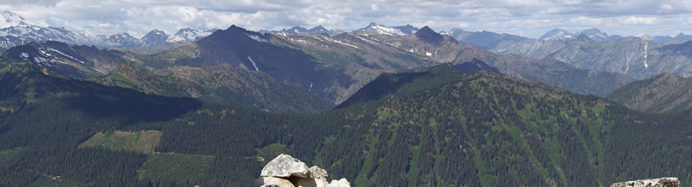 Panoramic view of the Wenatchee River watershed, Wenatchee National Forest