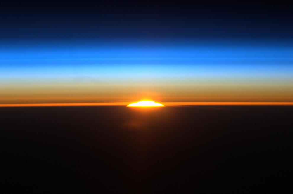 Sunrise 1 of 16 sunrises ISS astronauts see everyday