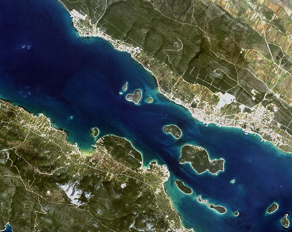 The heart-shaped island of Galešnjak