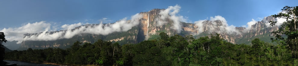 Angel falls panoramic, Composed of 21 individual pictures