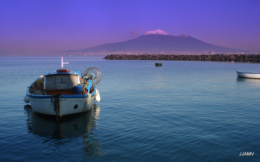 Bay of Naples and Vesuvio