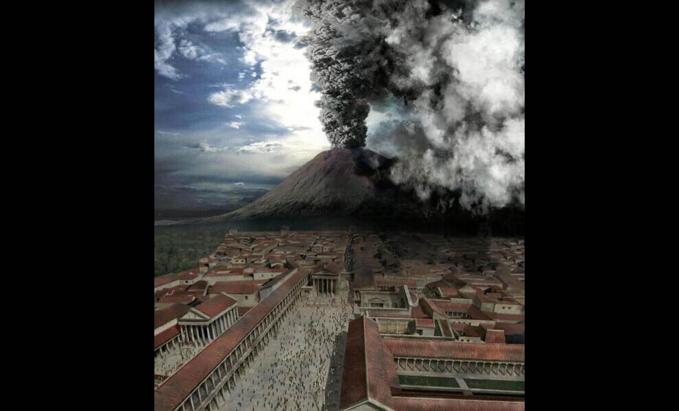Dramatized scene from Pompeii - The Last Day