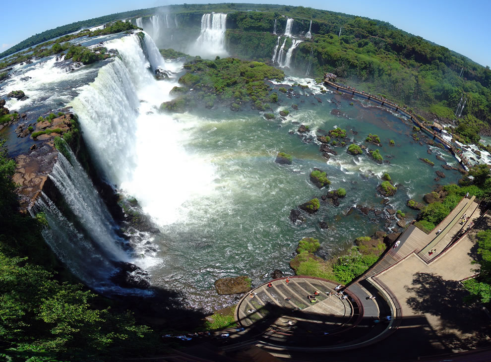 Panorama of Iguazu Waterfalls