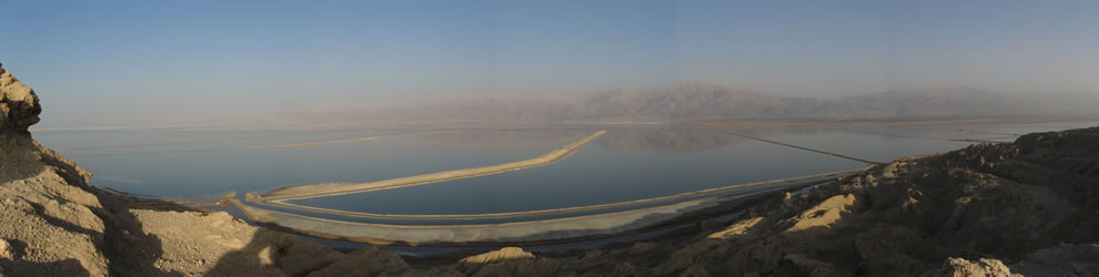Panorama of the Dead sea from Mount Sodom