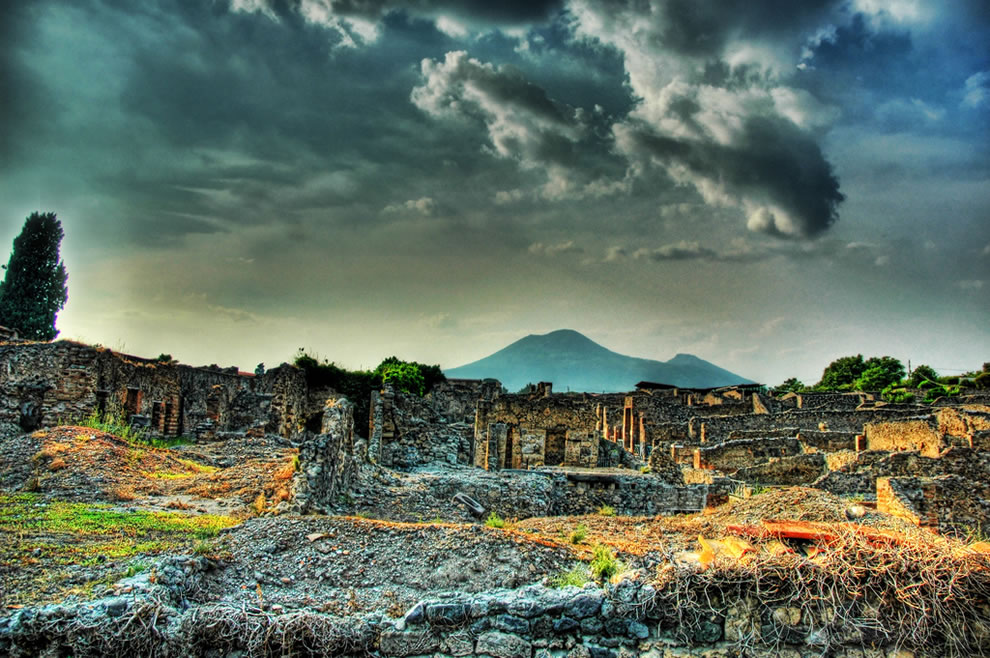 Ruins of Pompeii and Mount Vesuvius