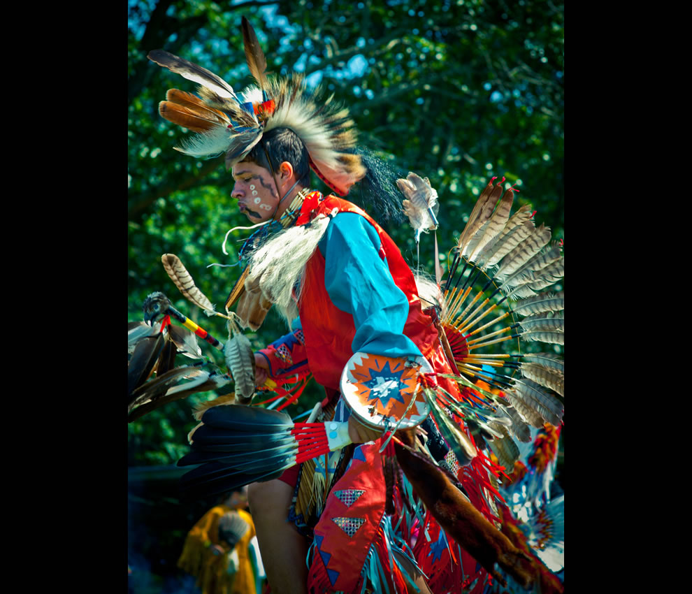 Colorful Warrior Shinnecock Nation Pow Wow