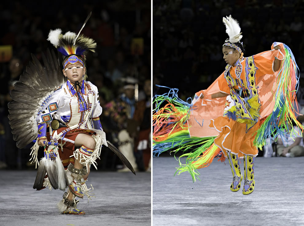 Dancing at National Pow Wow