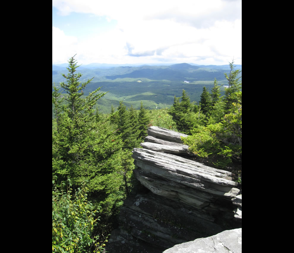 Flat Rock, Grandfather Mountain, Cherokee Woods, North Carolina, USA