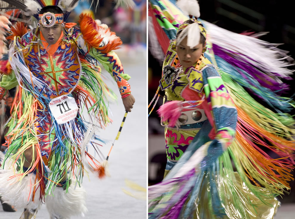 Gorgeous rainbow fancy dancers