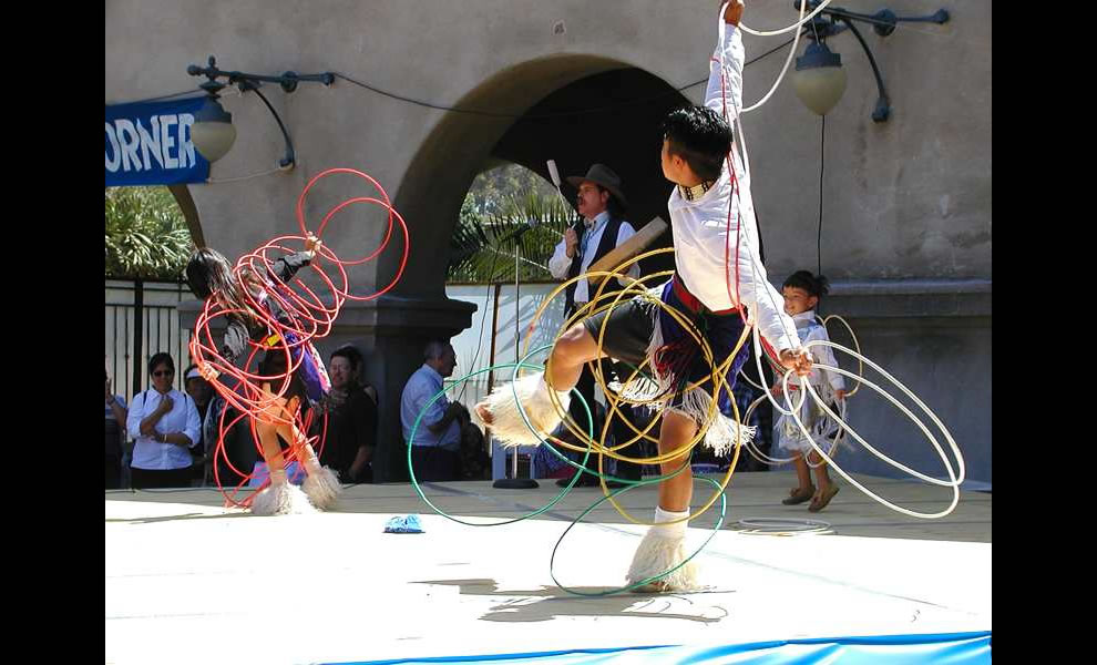 Hoop Dancers are featured at some Pow Wows