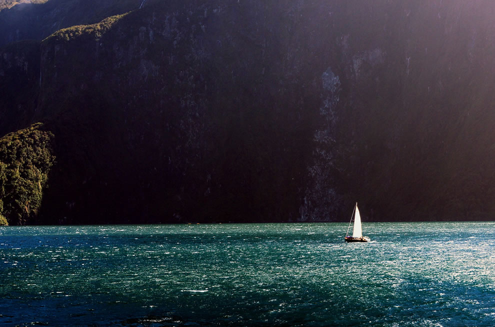 Sailing on Milford Sound