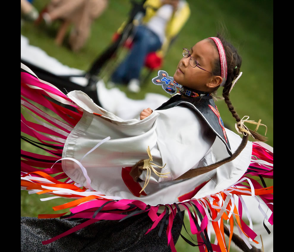 Spinning White Eagle Multicultural Pow Wow