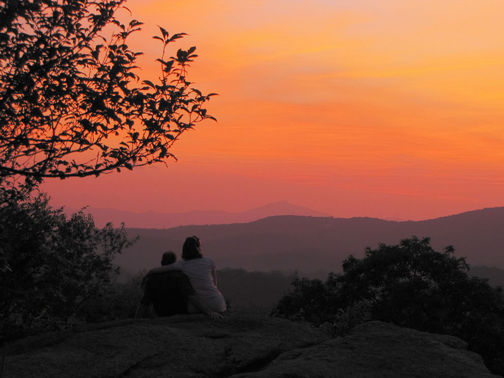 Sunset Watchers along the Blue Ridge Parkway