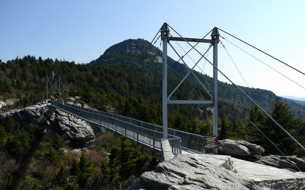 The Mile-High Swinging Bridge at Grandfather Mountain