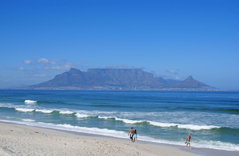 View of Table Mountain from Bloubergstrand