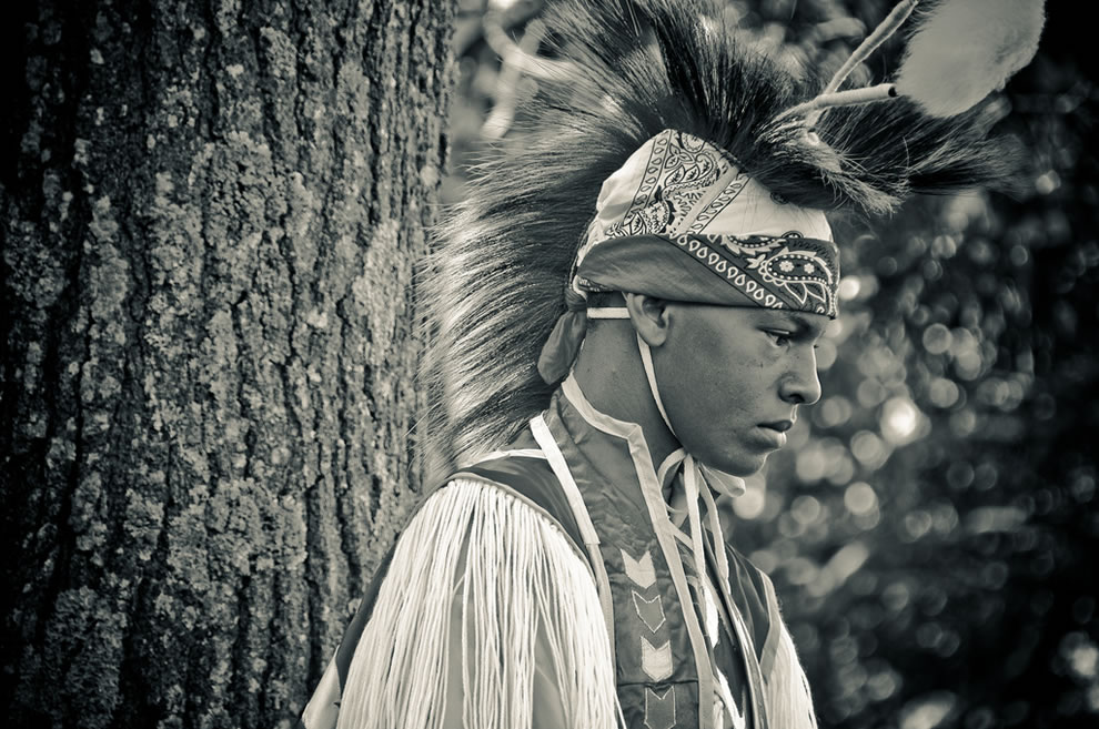 Warrior Dancer in Full Dress at NY Pow Wow