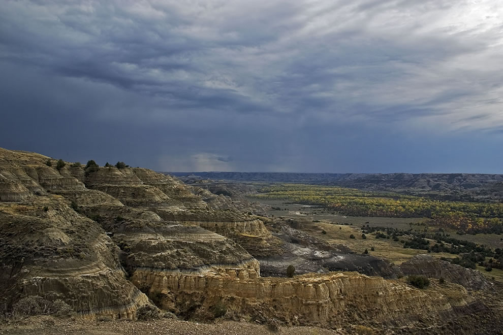 About to storm Theodore Roosevelt National Park