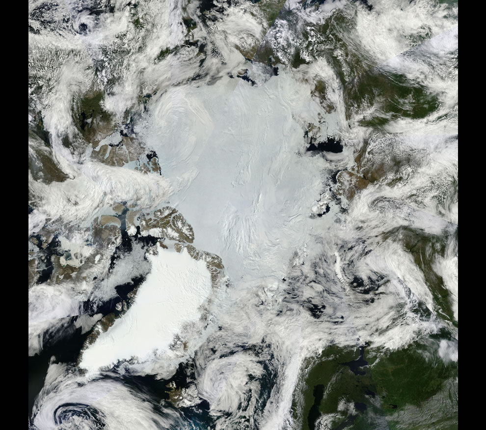 Mosaic of the Arctic -- North Pole