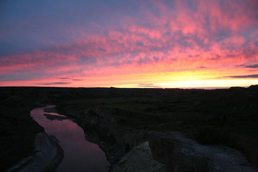Sunset Theodore Roosevelt National Park