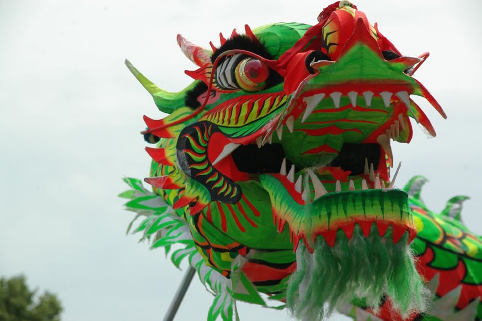 Chinese dragon in a dragon-dance