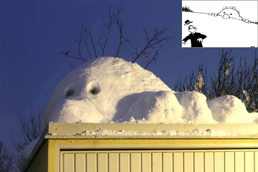 'Hill snowman' like from a Calvin & Hobbes comic strip