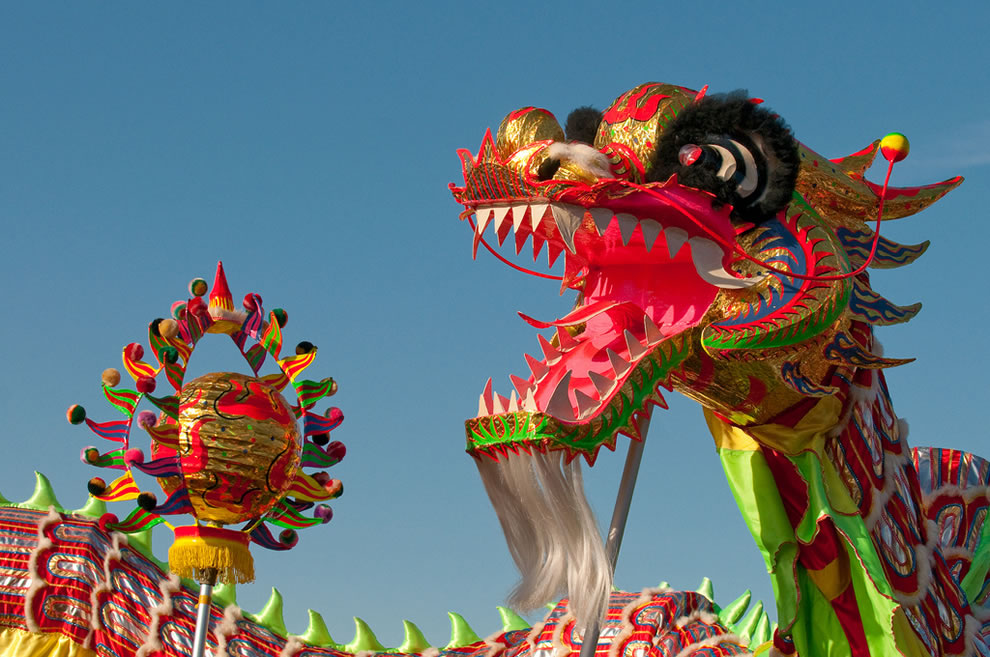 Welcome Year of the Dragon, 400' Chinese Dragon, Chinese New Year