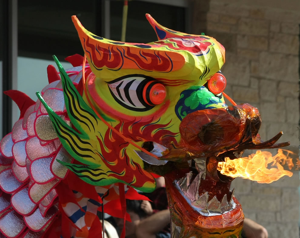Dragonfire New Year celebrations...with dragons, lions, firecrackers, martial artists and more