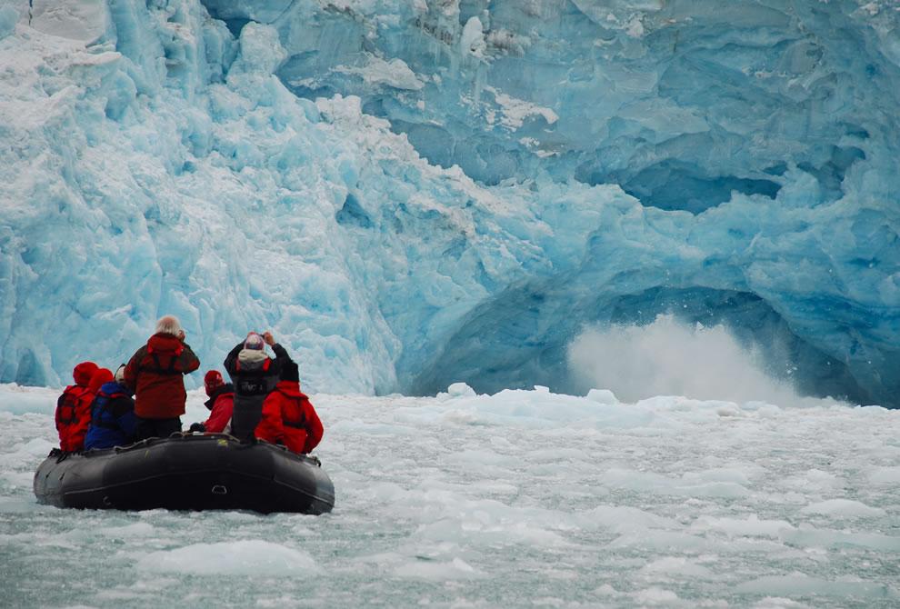 Icebergs Ecotourism in Svalbard, Norway