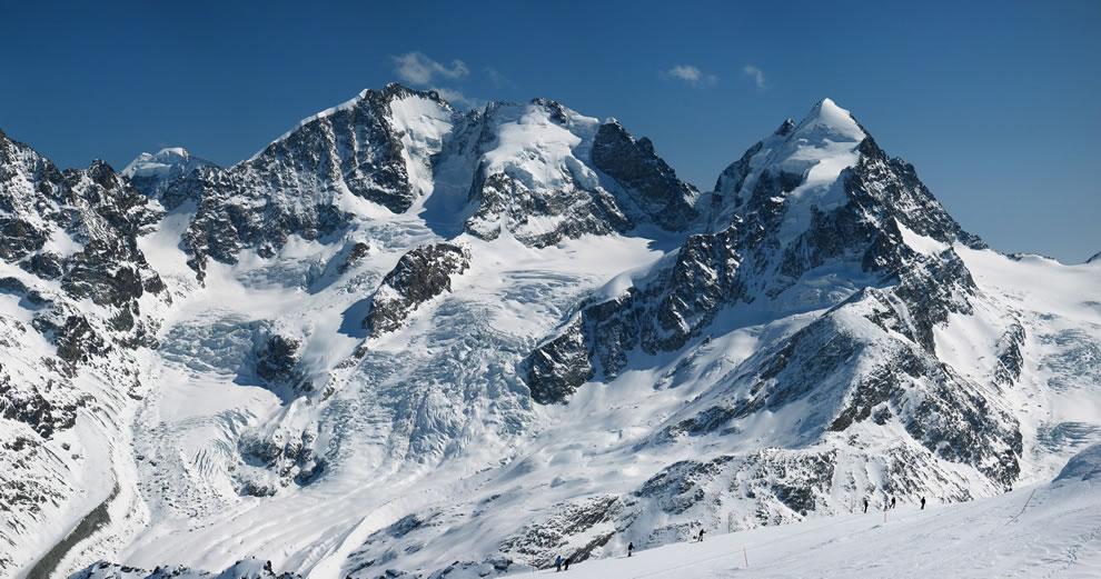 Switzerland -- Tschierva Glacier as seen from Piz Corvatsch