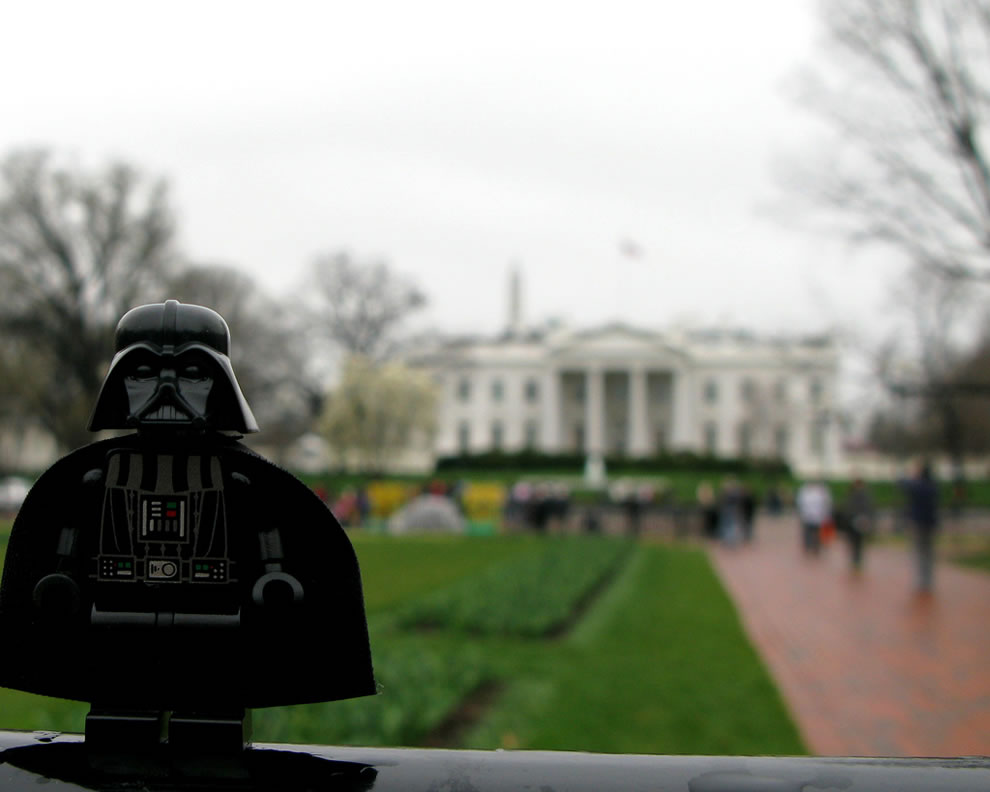 Even Darth Vadar comes out to enjoy the Cherry Blossom Festival in DC