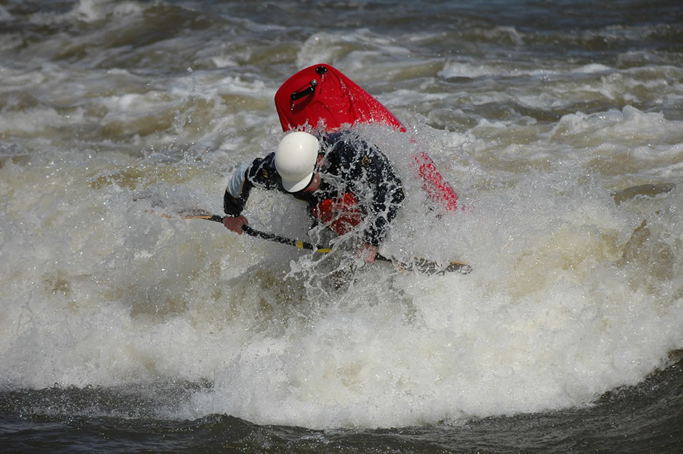 Every year Level Six hosts a freestyle kayaking event called 'The Level Six Capital Cup' at Bates Island off Island Park in Ottawa, Ontario