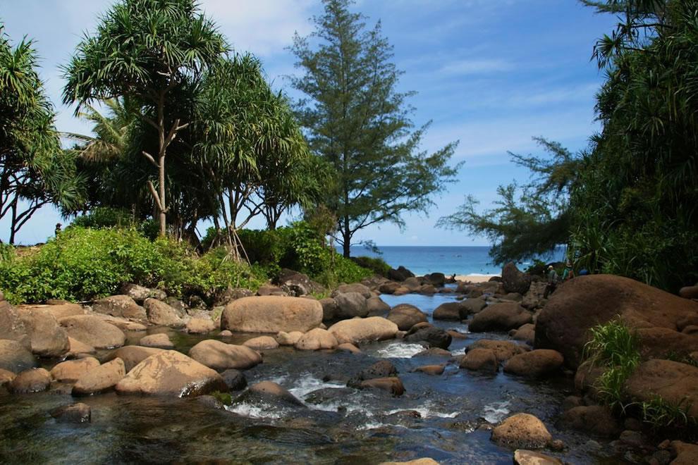 From the river to the sea -- Napali Coast, Kauai, Hawaii