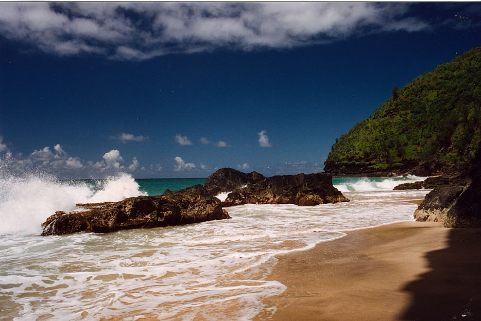 Hanakapiai Beach, Na Pali Coast, Kauai, Hawaii