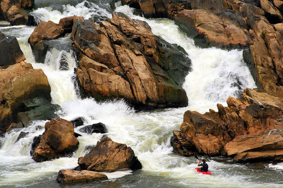 Kayak obstacles, Great Falls Park, VA