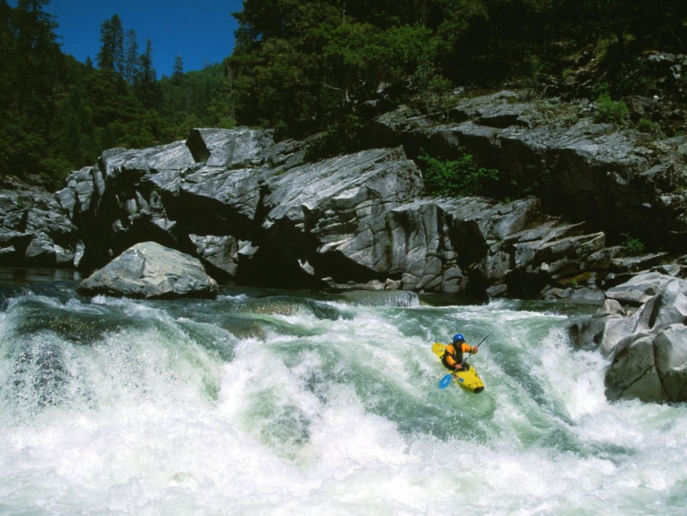 Kayaking Devils Canyon Middle Fork Feather River Sierra Nevada Range California