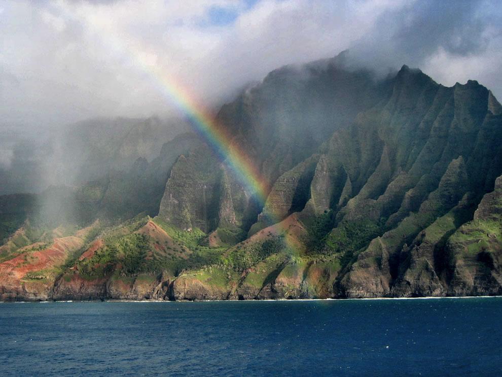 Na Pali Coast Rainbow in Kauai