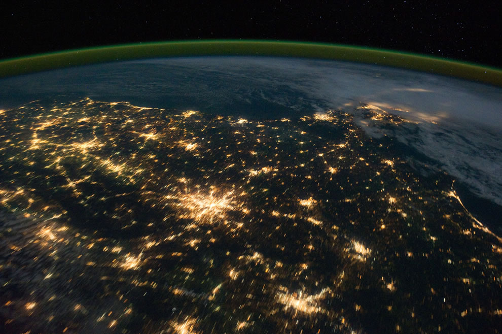 Southeastern U.S. at Night as seen from the ISS