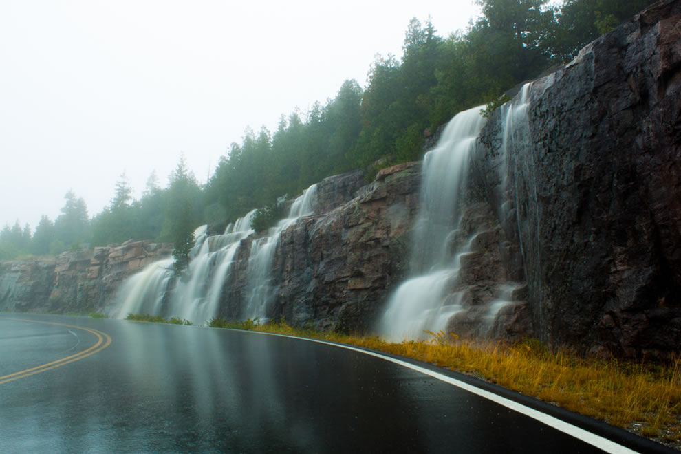 Acadia National Park during Tropical Storm Earl
