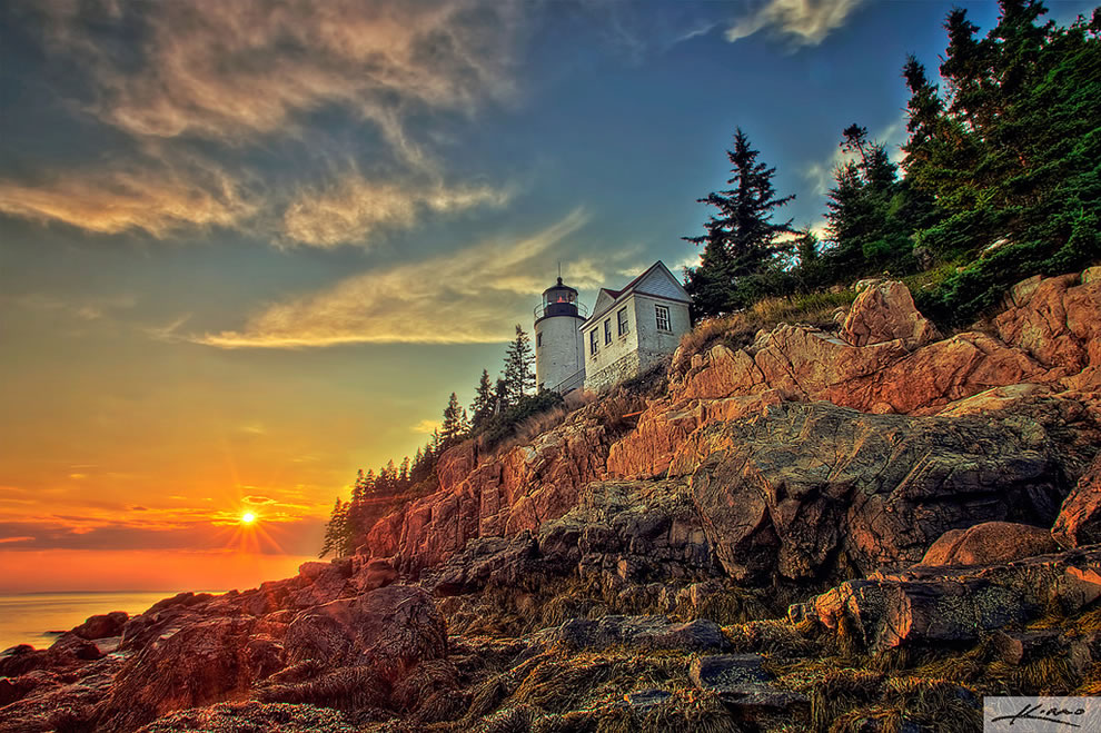 Bass Harbor Lighthouse at Acadia National Park