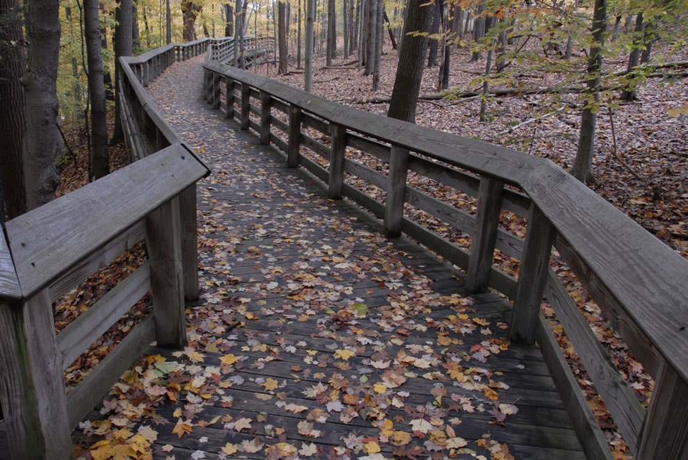 Brandywine Falls walkway at Cuyhoga Valley National Park
