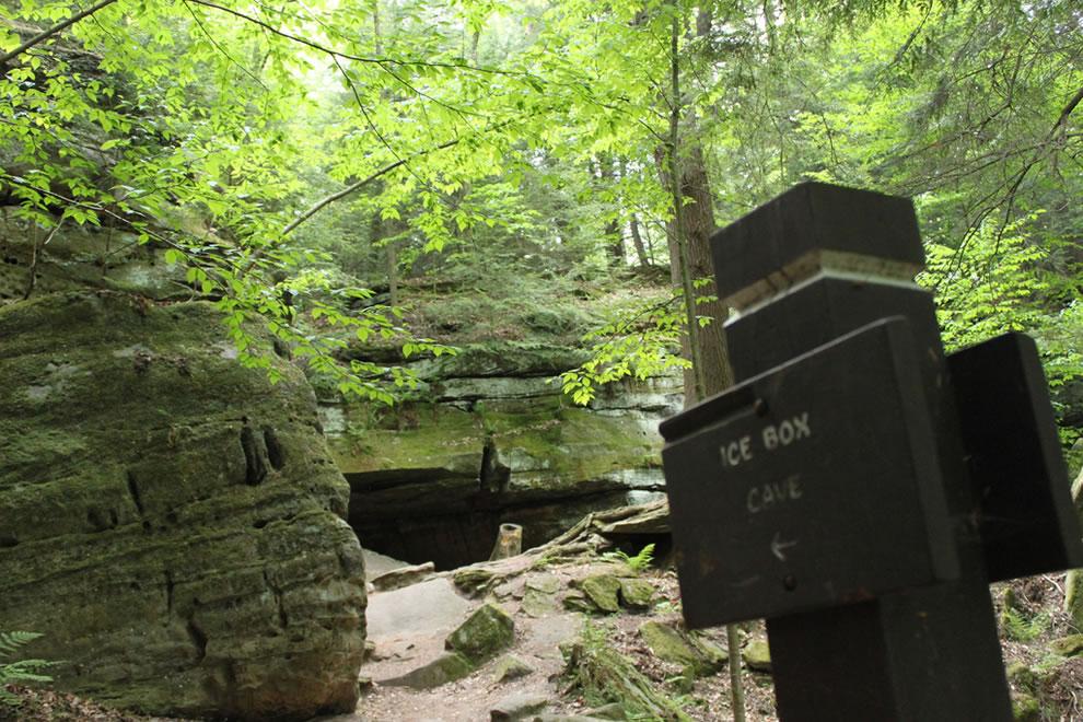 Cuyahoga Ledges: Ice Box Cave