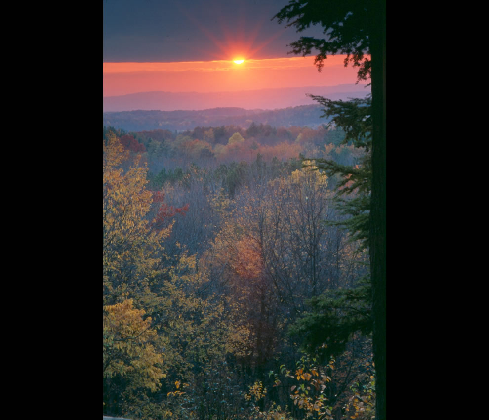 Ledges overlook at sunset -- CVNP Ohio's only National Park