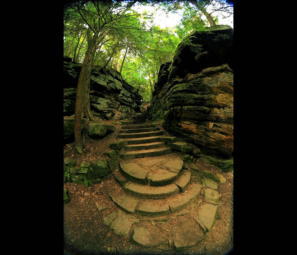 Staircase at the Ledges in Cuyahoga National Park